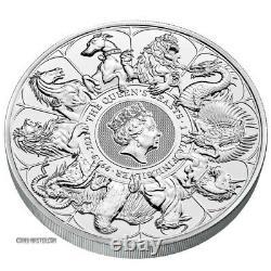 2021 1 Kilo Argent £500 Grande Bretagne Queen Beast Collection Completer Bu Coin