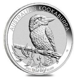 2021 1 Kilo Argent Australien Kookaburra Perth Mint. 9999 Bu Fine Dans Le Chapeau