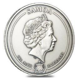 2021 1 Kilo Argent Aztèque Empire Multilayered High Relief Coin Samoa. 999 Amende