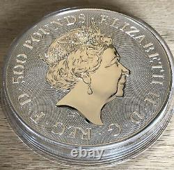 2021 1 Kilo KG Silver Queens Beasts Completer Royal Mint £500