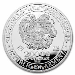 2021 Arménie 5 Kilo Argent 20000 Drams Noahs Ark Sku#219480