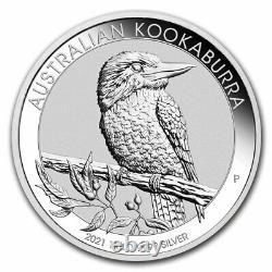 2021 Australie 1 Kilo Argent Kookaburra Bu Sku#218833
