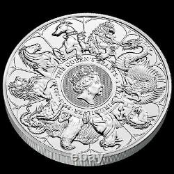 2021 Bêtes De La Reine Complète 1 Silver De Kilo (bu). 999.9 Argent Fin. Pré-saule