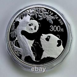 2021 China Panda 1 Kilo Silver Coin Avec Box Et Coa