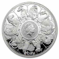 2021 GB 1 Kilo Silver Queen's Beast Collector (withbox, Coa) Sku#232180