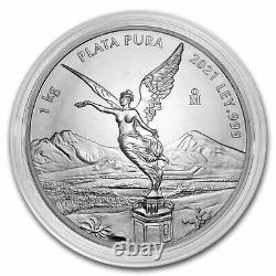 2021 Mexique 1 Kilo Argent Libertad Bu (en Capsule) Sku#233834
