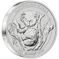 2021 P Australie Silver Koala Kilo 32.15 Oz $30 Bu