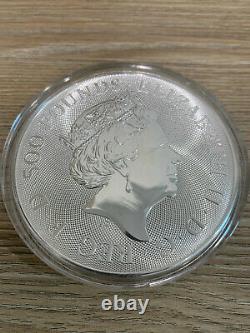 2021 Queens Beast 1 KG Argent Bullion Complete Coin 1 Kilo Bar À La Main