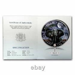 2021 Somalie 1 Kilo Éléphant D'argent (lune Géante) Sku#225193