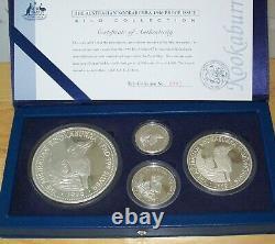 45,16 Oz 1996 Australie Kookaburra 1 Kilo 10 Oz 2 Oz 1 Oz 999 Silver Collection
