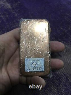 500g Copper Bullion Bar 1/2 Kilo Leipziger Edelmetallverarbeitung Gmbh Allemand