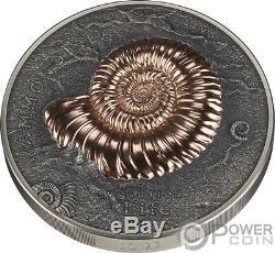 Ammonite Evolution De La Vie 1 KG Kilo Silver Coin 20000 Togrog Mongolie 2018