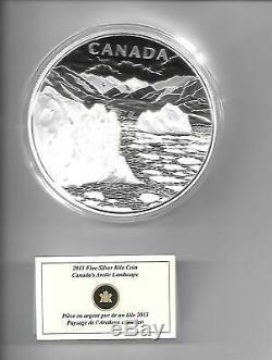 Arctique Paysage Canadien ' 2013 $ 250 Argent Kilo Coin