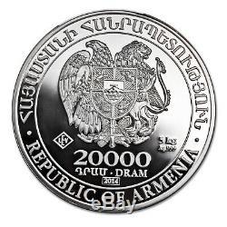 Arménie 5 Kilos D'argent 20000 Drams Noahs Ark (débraillé) Sku # 82586
