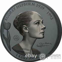Audrey Hepburn Shadow Minting 60th Anniv 1 KG Kilo Argent Pièce 25$ Samoa 2021
