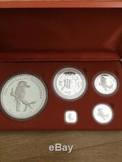 Australian Kookaburra Silver Proof 5 Coin Kilo Collection Très Limité De 350
