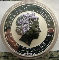 Australie 2004 Année Du Singe 30 Dollars 1kilo Silver Coin, Unc
