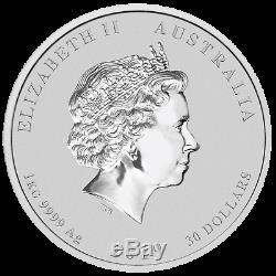 Australie 2019 Année Lunaire Du Pig 1 Kilo Gemstone Argent $ 30 Coin Mbac Ms 69