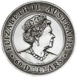 Australien 60 Dollar 2021 Grande Barrière Reef High Relief 2 Kilo Silber Af