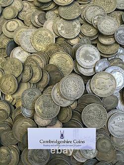 Avant 1947 Britannique. 500 Pièces D'argent 1kg. 5kg Choisissez L'investissement De Lingots De Montant