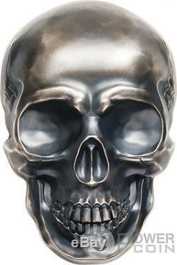 Big Skull Forme 1/2 Kilo Argent Monnaie 25 $ Palau 2017
