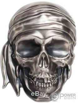 Big Skull Forme 1/2 Pirate Kilo Argent Monnaie 25 $ Palau 2018