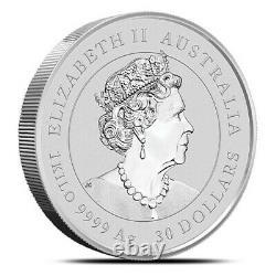 Boeuf Lunaire 1 Kilo D'argent. 2021. État De Menthe. Lingots D'argent. Pièce D'argent. Aus