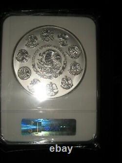 C'est Kilo. 999 Argent Mexique 2011 Ngc P-l 69 Calendrier Aztèque