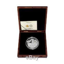 Canada 125 $ Canadiens ICI À 2015 Cheval 1/2 Kilo / 500g. Nature Preuve Silver Coin