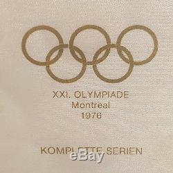 Canada Montréal 76 Unc 5 + 10 Dollars 1974 1975 1976 Silver Set 28 Coins 1 Kilo