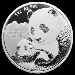 Chine 300 Yuan Panda 2019 1 Kilo Silber Pp IM Etui