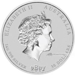 De 1 KG 2012 Année Lunaire Du Dragon Silver Coin