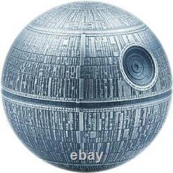 Death Star 2020 1 Kilo 100 $ Pièce Sphérique En Argent Pur Avec Boîte Et Niue Coa