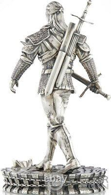 Geralt From Rivia White Wolf Witcher Book 1 KG Kilo Argent Coin 50$ Niue 2021