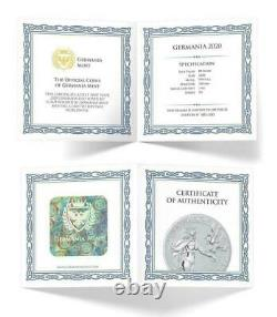 Germania 2020 80 Mark Germania 1 Kilo 1 KG 999.9 Argent Bu Coin