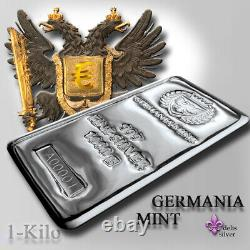 Germania Mint Cast 1 Kilo Silver Bar Gem Bu Germania Mint Direct Printemps9 Pièces