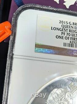 Grande-bretagne Reine Elizabeth Longest Monarch Argent Kilo Reigning Coin Pf70 500