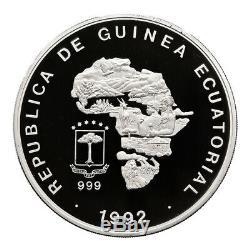 Guinée Équatoriale 1992 Argent Kilo Elephant