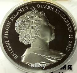 Îles Vierges Britanniques Rare 2012 Grand 1 Kilo Silver Coin Titanic 1912-2012