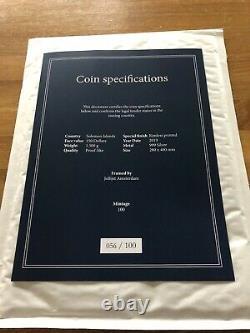 John The Baptist 1,5 KG Kilo Silver Coin 150 $ Îles De Salomon 2019