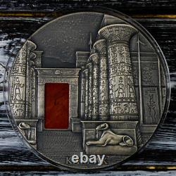 Karnak 1 Kilo Antique Finition Argent Pièce 10000 Francs Cfa République Du Tchad 2018
