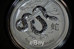 Kilo 32,15 Oz Silver Coin Perth Mint Australie Année De Serpent 2013 En Capsule