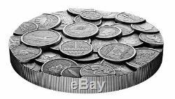 La Collection De Pièces Canadienne Argent Un Kilo Ultra High Relief Coin 500 Mintage