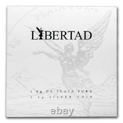 Libertad Mexico 2020 1 Kilo Pure Silver Proof Comme Une Pièce Avec Boîte & Coa