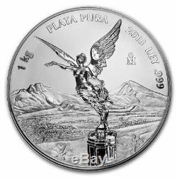 Libertad Mexique 2018 1 Kilo Pur Preuve En Argent Comme Monnaie Avec La Boîte Et Coa