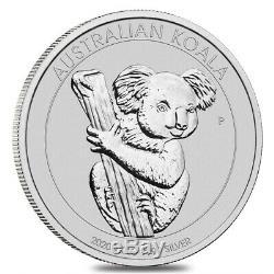 Lot De 2 2020 1 Kilo Argent Australian Koala Perth Mint. 9999 Fin Bu À Cap