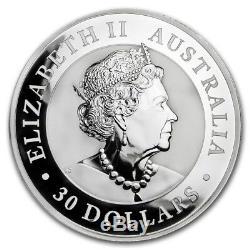 Lot De (3) 1 Kilo 32,15 Troy Onces 2019 Australian Kookaburra. 999 Silver Coins
