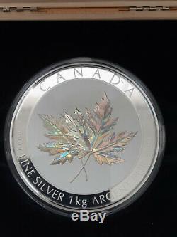 Maple Leaf Forever 1 KG Kilo Argent Épreuve Numismatique 250 $ Canada 2015 Tirage Limité