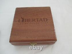 Mexicain Libertad Giant Kilo Silver Coin Wood Display Case 2013 Coa