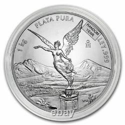 Mexique 1 Kilo Argent Libertad Bu (année Aléatoire) Sku#217030